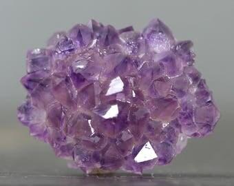 Purple Stalactite Amethyst Rose Cluster Natural Button Gemstone Stalagmite Tip (CA8753)