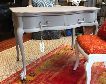Mahogany Two Drawer Desk #345