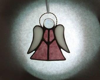 Stained Glass Angel, Angel Ornanemt, Angel Suncatcher, Glass Angel