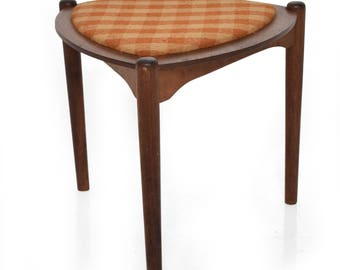 Mid-Century Modern Triangular Side Table with Reversible Top