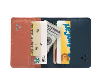 vegan wallet, mini wallet, card holder, personalized wallet, purse, minimalist wallet case, grooms gift