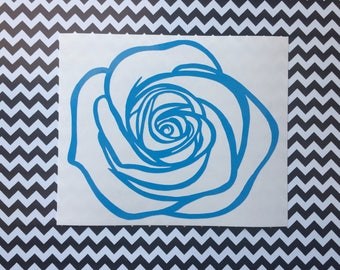 Blue Rose vinyl decal -Car decal, laptop decal, Twin Peaks inspired, The Return, Cult tv, Lynch