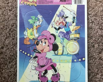 Vintage 80s Minnie Mouse Frame Tray Puzzle - Totally Minnie