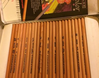 PRISMACOLOR Watercolor 24, Koh-I-Noor Gioconda Soft Pastel Cedar Wood 12, DERWENT Metallic 12 or Watercolour 12 sets Free Ship
