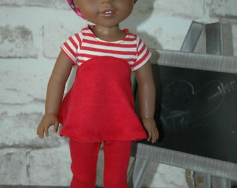 American, made, girl, boy, doll, knit, top, leggings, for, 14 inch, doll clothes