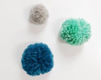 Cool Pom-Pom Magnet Trio