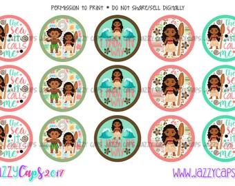 """Island Girl 1"""" Bottle Cap Images--Digital Download"""