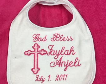 White Baby Bib or burp cloth, any design listed in photos