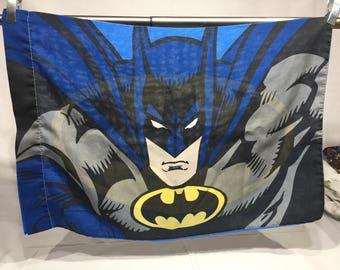 Vintage retro pillowcase, Batman pillowcase, DC Comic village, unique, comic, pillowcase, superhero