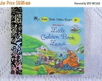 SALE 20% OFF Welcome To Little Golden Book Land, Original Little Little Golden Book, 1990s Miniature Classics 24 Pages-New Old Stock Unused