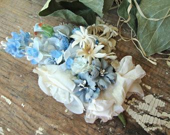 Antique Vintage Velvet Millinery Flowers Posy - #105