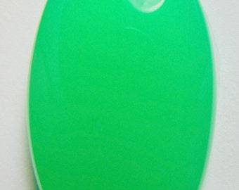 Chrysoprase designer cab glowing green AAA+  maraborough buff top oval 25.62 ct.Eye clean cabochon