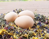 Herbs for Hens COOP CONFETTI® Chicken Nest Box Herbal Aromatherapy 1/4lb (4 oz) 100% Natural Dried Mint Lavender Rosebud Chamomile Calendula