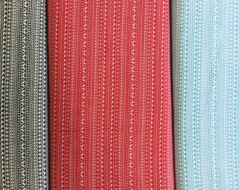 FabricFreedom Festive Friends Collection FF301 by the half metre in green, red and blue