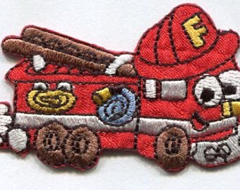 fire engine iron on patch