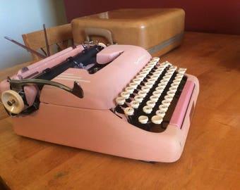 Beautiful Pink Smith Corona Super Silent Typewriter