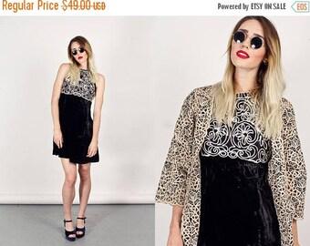 FLASH SALE 80s Black Velvet Dress Vintage White Halter Holiday Party Dress