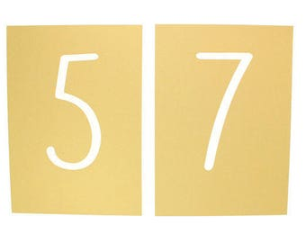 1 - Gold Shimmer Laser Cut Reception Table Number Card Table numbers 3