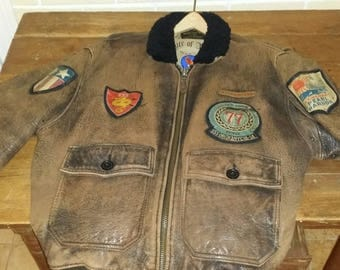 Leather Bomber from the 1980's! Its the real thing.
