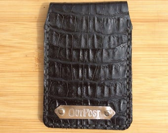 Card case/bus pass holder/Oyster card holder/identity card holder, all leather, all hand made and hand stitched