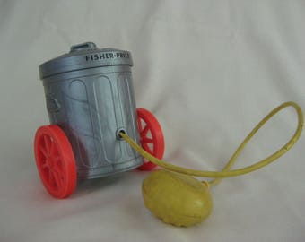 Vintage Fisher Price Oscar the Grouch Squeeze Toy