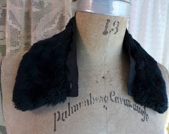 Faux Fur Collar Detachable Vintage Black Collar Accessory