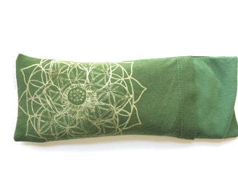 Savasana eye bag / Eye pillow with washable cover / Organic Cotton and bamboo