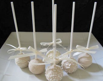 Fall Wedding - Fall Wedding Cake Pops, Made to Order with High Quality Ingredients, 1 Dozen Cake Pops