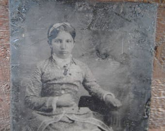 Tintype Photo - Pretty Young Lady Identified - OH Teacher