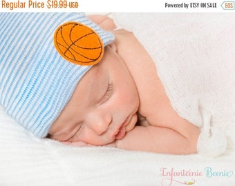 SALE 25% OFF BASKETBALL Newborn Hat, newborn hospital hat, boy newborn, Baby boy hat, newborn boy hat, boy hospital hat, boy newborn hat, bo