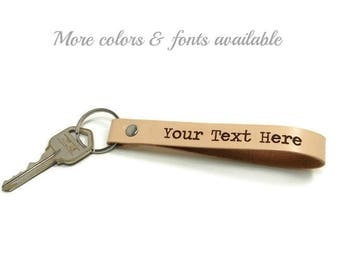 Personalized Key Fob, Leather Key Fob, Leather Key Chain, Custom Key Fobs, Gifts Under 15, Realtor Gifts, Groomsmen Gifts, Corporate Gifts
