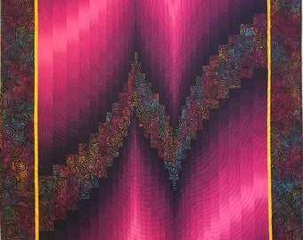 Two Fabric Bargello Quilt
