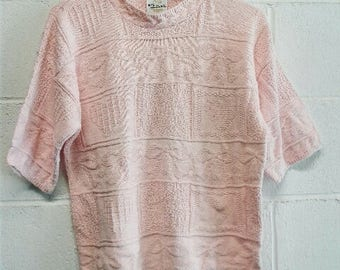 Cute Pink Vintage Knit Sweater