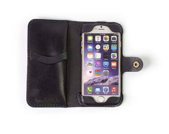 iPhone 7 Leather Phone Wallet Case / ready to ship / iphone 7 case / iphone 7 wallet/ iphone case / iphone 7 leather