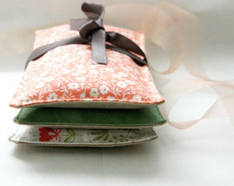Lavender Pillows, Lavender Sachets - Large Set of 3 - Mixed Floral Scented Gift Mother's Day Drawer Liner