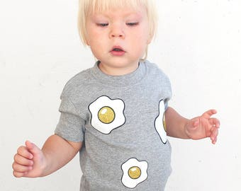 Glitter Fried Egg Grey Baby and Child T-Shirt
