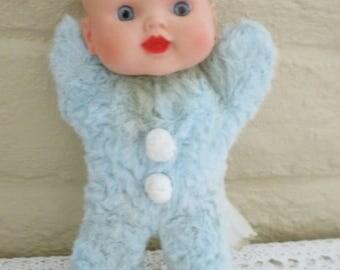 Vintage Baby Boy Doll - Stuffed Boy Doll