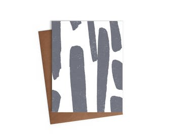 Blank A2 Greeting Card - Abstract Paint-stroke Card - Digital Printed Cards w/ envelope