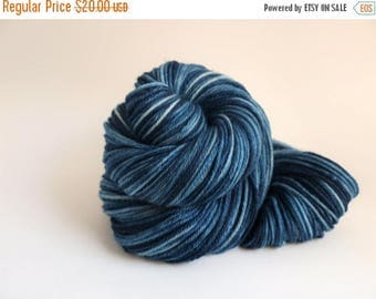 ON SALE: Hand Dyed Worsted Weight Yarn, 218 yards, Super Wash Merino Wool, Swirl