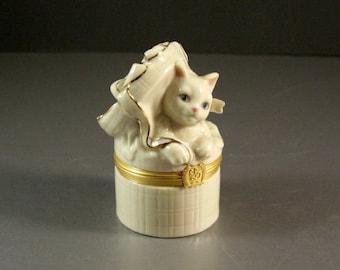 Lenox Treasures The Cat's Surprise Box Trinket Collectible Stash Jewelry