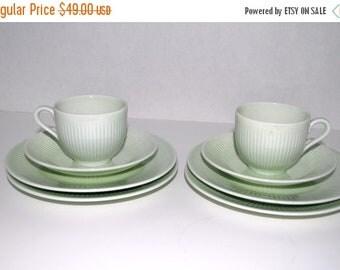 on sale Rorstrand Swedish china 8 piece set   mint green  china   2 sets
