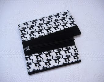 All door checkbook and wallet pattern cats