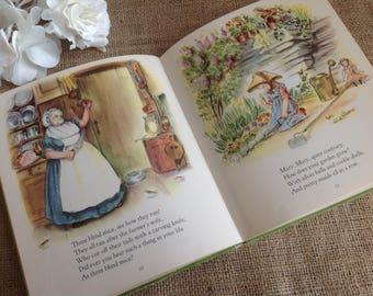 Mother Goose 1945 Tasha Tudor Illustrations Adorable Vintage Children's Book