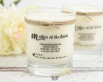 Mother of the Bride Mother of the Groom Scented candle