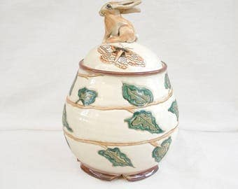 Rabbit Jar with Ivy