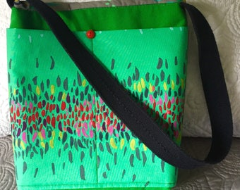 Spring Fling Green Canvas Tote