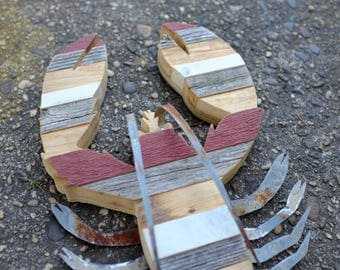 reclaimed wood lobster