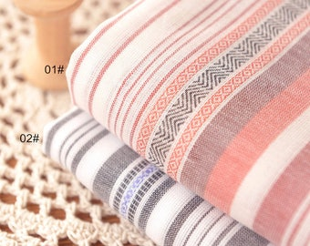 Jacquard Stripe Cotton Fabric Fabric BOHO Bohemian national Style Garment Bag Cushion Fabric- 1/2 Yard (QT1308)