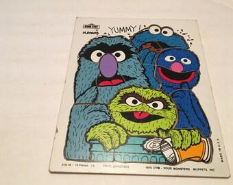 four monsters playskool puzzle sesame street