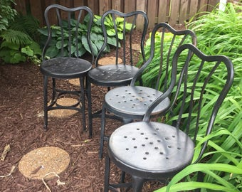 Antique UHL STEEL Chairs Set of four